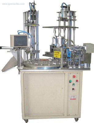 Multi-axis rotary automaticlock screw machine
